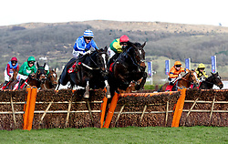 Penhill ridden by jockey Paul Townend (centre left) goes on to win the Sun Bets Stayers' Hurdle during St Patrick's Thursday of the 2018 Cheltenham Festival at Cheltenham Racecourse.