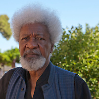 """Nigerian writer Wole Soyinka at """"Le Conversazioni"""" on Capri<br /> Photographed on 7th July, 2012<br /> <br /> Picture by Steve Bisgrove/Writer Pictures<br /> <br /> WORLD RIGHTS"""