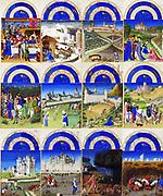 Labours of the months 'Très Riches Heures 1413-1416, the Duc de Berry. Illumination on parchment, Chantilly, Musée Condé