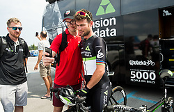 Fans with Mark Cavendish (GB) of Team Dimension Data during Stage 1 of 24th Tour of Slovenia 2017 / Tour de Slovenie from Koper to Kocevje (159,4 km) cycling race on June 15, 2017 in Slovenia. Photo by Vid Ponikvar / Sportida