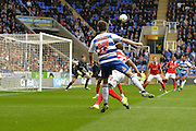 Reading's Lucas Piazon crosses the ball for Reading's first goal during the Sky Bet Championship match between Reading and Charlton Athletic at the Madejski Stadium, Reading, England on 17 October 2015. Photo by Mark Davies.