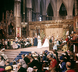 A general view of Princess Margaret's wedding to the Earl of Snowdon at Westminster Abbey.