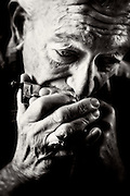 Charlie Musselwhite plays harmonica in his hometown of Clarksdale, Mississippi.