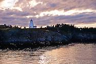 Swallowtail Lighthouse on Grand Manan Island, New Brunswick, Canada