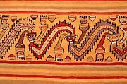 PERU, PRE-COLUMBIAN Chancay; serpents and human heads