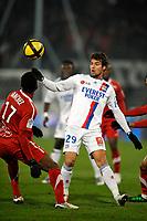 FOOTBALL - FRENCH CHAMPIONSHIP 2010/2011 - L1 - VALENCIENNES FC v OLYMPIQUE LYONNAIS - 29/01/2011 - PHOTO GUY JEFFROY / DPPI - YOANN GOURCUFF (LYON)