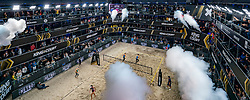 Centercourt in action during the last day of the beach volleyball event King of the Court at Jaarbeursplein on September 12, 2020 in Utrecht.
