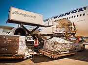 An Air France Boeing 777 is loaded on the ramp at Atlanta's Hartsfield-Jackson International Airport. Spring 2010.  <br /> <br /> Created by aviation photographer John Slemp of Aerographs Aviation Photography. Clients include Goodyear Aviation Tires, Phillips 66 Aviation Fuels, Smithsonian Air & Space magazine, and The Lindbergh Foundation.  Specialising in high end commercial aviation photography and the supply of aviation stock photography for advertising, corporate, and editorial use.