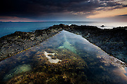 """International Color Awards 2016 - Nominee in """"Nature"""" category<br /> <br /> Large rockpools in the reef at Rhosneigr at sunset, West Anglesey, Wales."""