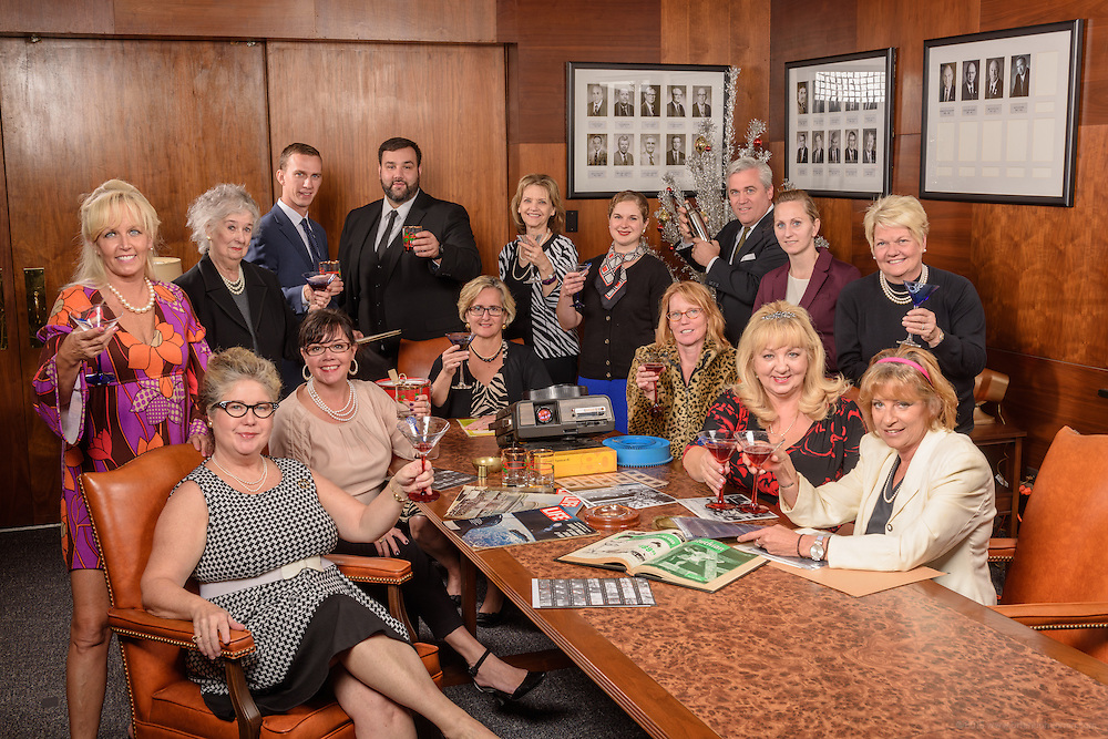 """The 2016 Kentucky Living Magazine """"Mad Men"""" holiday photo Tuesday, Sept. 27, 2016 in Louisville, Ky. (Photo by Brian Bohannon)"""