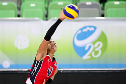 Vielka Michelle Peralta Luna of Dominican Republic during the volleyball match between National team of Dominican Republic and Bulgaria in Bronze Medal game of Womens U23 World Championship 2017, on September 17, 2017 in SRC Stozice, Ljubljana, Slovenia. Photo by Morgan Kristan / Sportida