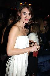 LAETITIA CASH at a party hosted by Tatler magazine to celebrate the publication of the 2004 Little Black Book held at Tramp, 38 Jermyn Street, London SW1 on 10th November 2004.<br />