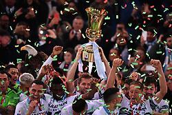 May 15, 2019 - Roma, Italia - Foto Alfredo Falcone - LaPresse15/05/2019 Roma ( Italia)Sport CalcioLazio - AtalantaFiinale Tim Cup 2018 2019 - Stadio Olimpico di RomaNella foto:esultanza lazioPhoto Alfredo Falcone - LaPresse15/05/2019 Roma (Italy)Sport SoccerLazio - AtalantaTim Cup Final Match 2018 2019 - Olimpico Stadium of RomaIn the pic:lazio celebrates (Credit Image: © Alfredo Falcone/Lapresse via ZUMA Press)
