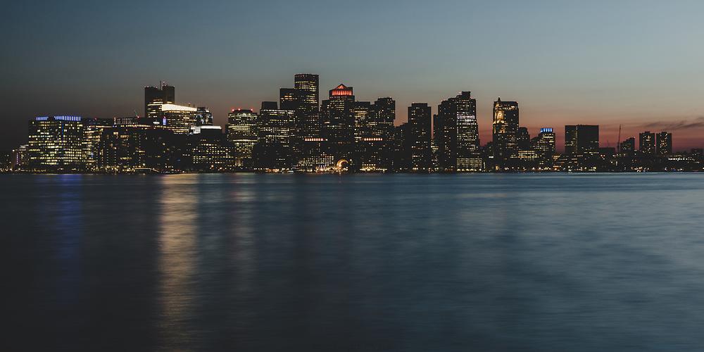 Summer evening in Boston.