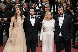 Karim Leklou, Marie Monge, Tahar Rahim and Stacy Martin attending the premiere of the film Le Grand Bain during the 71st Cannes Film Festival in Cannes, France on May 13, 2018. Photo by Julien Zannoni/APS-Medias/ABACAPRESS.COM