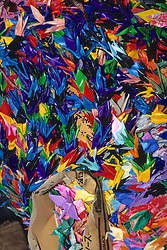Paper Cranes At Childrens Peace Monument
