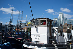 August 13, 2017 - London, United Kingdom - General view of the modern buildings across Millwall Dock, London on August 13, 2017. Millwall Dock is a dock at Millwall, London, in the Isle of Dogs. The area is becoming a massive and residential centre near the financial district of Canary Wharf. (Credit Image: © Alberto Pezzali/NurPhoto via ZUMA Press)