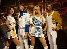 OCT 04 2012 New waxwork of pop group Abba