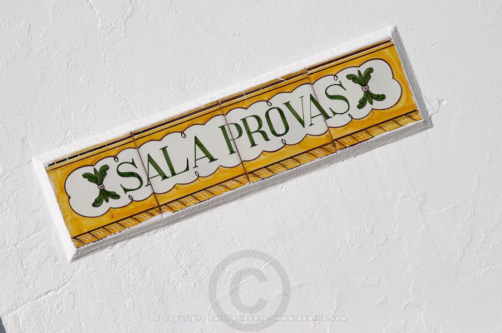 tasting room sign herdade do esporao alentejo portugal