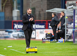 Dundee manager James McPake. Dundee 1 v 3 Partick Thistle, Scottish Championship game player 19/10/2019 at Dundee stadium Dens Park.
