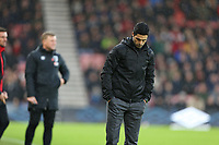Football - 2019 / 2020 Premier League - AFC Bournemouth vs. Arsenal<br /> <br /> A dejected Arsenal Head Coach Mikel Arteta during the Premier League match at the Vitality Stadium (Dean Court) Bournemouth  <br /> <br /> COLORSPORT/SHAUN BOGGUST