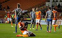 Blackpool's Sean Scannell celebrates scoring the opening goal <br /> <br /> Photographer Alex Dodd/CameraSport<br /> <br /> The EFL Sky Bet League One - Blackpool v Lincoln City - Friday 27th September 2019 - Bloomfield Road - Blackpool<br /> <br /> World Copyright © 2019 CameraSport. All rights reserved. 43 Linden Ave. Countesthorpe. Leicester. England. LE8 5PG - Tel: +44 (0) 116 277 4147 - admin@camerasport.com - www.camerasport.com