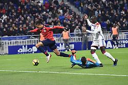 May 5, 2019 - Decines Charpieu, France, FRANCE - Anthony Lopes et Ferland Mendy (lion) vs Loic Remy  (Credit Image: © Panoramic via ZUMA Press)