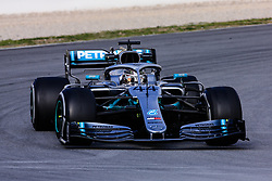 February 19, 2019 - Montmelo, BARCELONA, Spain - Lewis Hamilton of Great Britain with 44 Mercedes AMG Petronas Motorsport W10 in action during the Formula 1 2019 Pre-Season Tests at Circuit de Barcelona - Catalunya in Montmelo, Spain on February 19. (Credit Image: © AFP7 via ZUMA Wire)