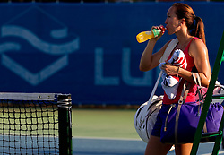 Jelena Jankovic of Serbia after the practice session before  2nd Round of Singles at Banka Koper Slovenia Open WTA Tour tennis tournament, on July 22, 2010 in Portoroz / Portorose, Slovenia. (Photo by Vid Ponikvar / Sportida)
