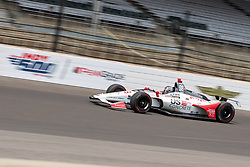 May 20, 2018 - Indianapolis, IN, U.S. - INDIANAPOLIS, IN - MAY 20: Marco Andretti, driver of the #98 Andretti Herta Autosport Honda,  heads into turn 1 while practicing during Indianapolis 500 pole day on May 20, 2018, at the Indianapolis Motor Speedway Road Course in Indianapolis, Indiana. (Photo by Adam Lacy/Icon Sportswire) (Credit Image: © Adam Lacy/Icon SMI via ZUMA Press)