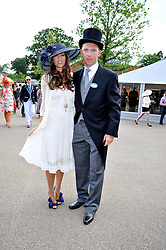 NICK CANDY and YAEL TORN-HIBLER at at the first day of the 2009 Royal Ascot racing festival on 16th June 2009.