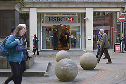 October 19, 2016 - Manchester, England, United Kingdom - A branch of HSBC, a provider of mortgages for people purchasing property, trades on October 19, 2016 in Manchester, England. The United Kingdom's finance industry regulator, the Financial Conduct Authority, has announced a commitment to consult on mortgage payment shortfall remediation guidance. (Credit Image: © Jonathan Nicholson/NurPhoto via ZUMA Press)