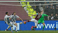 Football - 2016 / 2017 Premier League - West Ham United vs. West Bromwich Albion<br /> <br /> Robert Snodgrass of West Ham stretches to make contact with an early chance in front of goal at the London Stadium.<br /> <br /> COLORSPORT/DANIEL BEARHAM