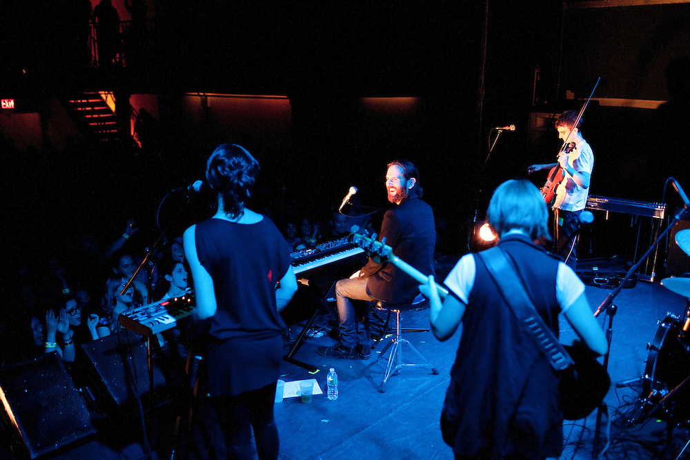 """NEW YORK, NY - MAY 20: American band Wakey!Wakey! performs at the Bowery Ballroom while touring in support of their latest album """"Almost Everything I Wish I'd Said The Last Time I Saw You..."""" on May 20, 2010 in New York, New York. (PHOTO CREDIT: Eric M. Townsend)"""
