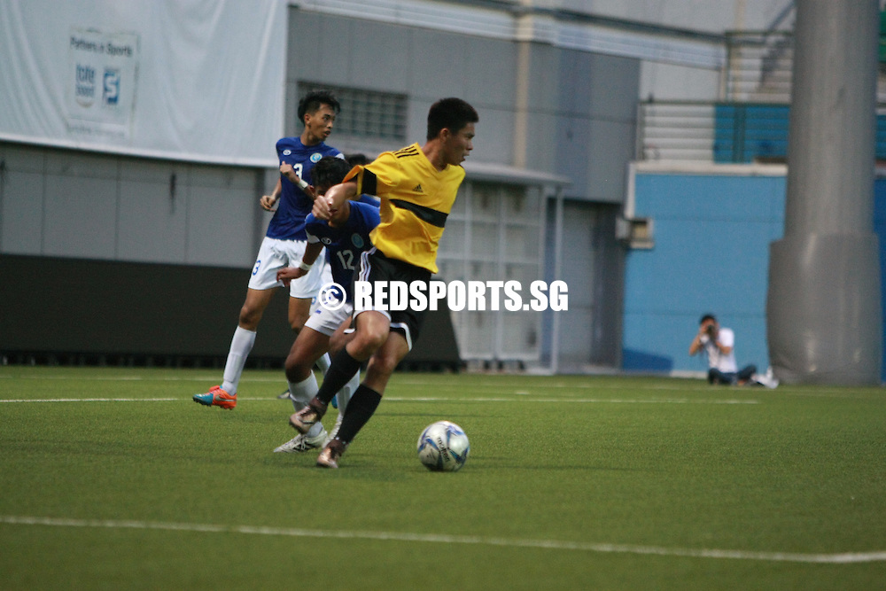 Jalan Besar Stadium, Tuesday, May 10, 2016 — Meridian Junior College (MJC) triumphed 1-0 over Victoria Junior College (VJC) to be crowned champions of this year's National A Division Football Championship.<br /> <br /> This was MJC's third successive title, and their seventh in the last 10 years.