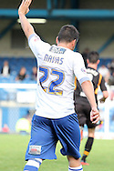 Bury's Marco Navas ( brother of Man city player Jesus Navas) thanks a team mate for a great ball. Skybet Football League two match, Bury v Newport county at Gigg Lane in Bury on Saturday 5th Oct 2013. pic by David Richards, Andrew Orchard sports photography,