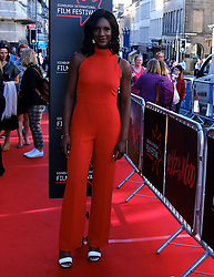 Edinburgh International Film Festival 2019<br /> <br /> Boyz In The Wood (European Premiere)<br /> <br /> Stars and guests arrive on the red carpet for the opening gala<br /> <br /> Pictured: Moyo Akande <br /> <br /> Alex Todd | Edinburgh Elite media