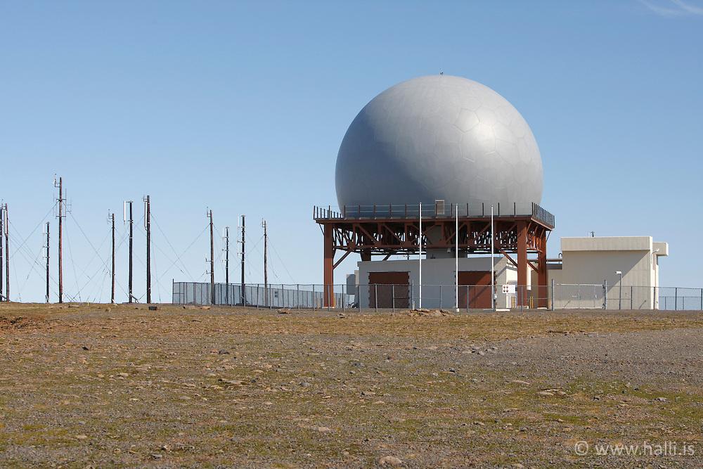 Radar tracking station on a top of the mountain Bolafjall west of Iceland (NATO) - Ratsjárstöð á Bolafjalli