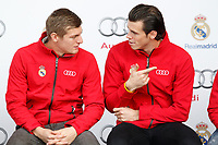 TonI Kroos and Gareth Bale participates and receives new Audi during the presentation of Real Madrid's new cars made by Audi in Madrid. December 01, 2014. (ALTERPHOTOS/Caro Marin)