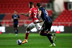 Nahki Wells of Bristol City is challenged by Dael Fry of Middlesbrough - Rogan/JMP - 20/10/2020 - Ashton Gate Stadium - Bristol, England - Bristol City v Middlesbrough - Sky Bet Championship.