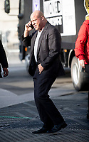 Kurt Angle at trafalgar square stop as  WWE Stars tour London  in an open-top bus   promotie the WWE's move to BT Sport, and