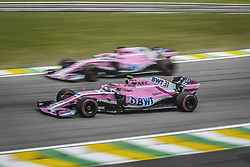 November 10, 2018 - Sao Paulo, Brazil - 31 OCON Esteban (fra), Racing Point Force India F1 VJM11, action m 11 PEREZ Sergio (mex), Racing Point Force India F1 VJM11, action during the 2018 Formula One World Championship, Brazil Grand Prix from November 08 to 11 in Sao Paulo, Brazil -  FIA Formula One World Championship 2018, Grand Prix of Brazil World Championship;2018;Grand Prix;Brazil  (Credit Image: © Hoch Zwei via ZUMA Wire)