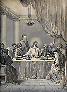 The Last Supper From ' The pictorial Catholic library ' containing seven volumes in one: History of the Blessed Virgin -- The dove of the tabernacle -- Catholic history -- Apparition of the Blessed Virgin -- A chronological index -- Pastoral letters of the Third Plenary. Council -- A chaplet of verses -- Catholic hymns  Published in New York by Murphy & McCarthy in 1887