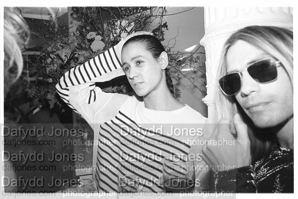 Jaye Davidson, Vogue celebrates snaps bn, Ellen Von Unworth, New York, November 1994© Copyright Photograph by Dafydd Jones 66 Stockwell Park Rd. London SW9 0DA Tel 020 7733 0108 www.dafjones.com