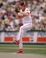 CLEVELAND - 1996:  Jack McDowell of the Cleveland Indians pitches during an MLB game at Jacobs Field in Cleveland, Ohio during the 1996 season. (Photo by Ron Vesely) Subject:   Jack McDowell