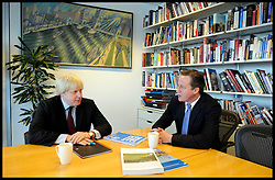 London Mayor Boris Johnson with the Prime Minister David Cameron, after Boris Johnson , Friday May 4, 2012. Photo By Andrew Parsons/I-images