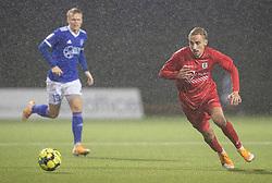 Lucas Haren (FC Helsingør) under kampen i 1. Division mellem Fremad Amager og FC Helsingør den 21. oktober 2020 i Sundby Idrætspark (Foto: Claus Birch).