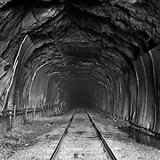 Hoosic Tunnel looking into the five mile long tunnel from the east portal, Florida, MA