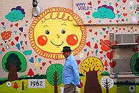 Seen on the Upper West Side of Manhattan; a mural on the Grosvenor Neighborhood House YMCA.
