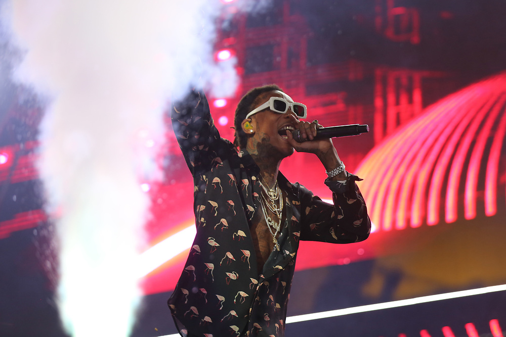 Wiz Khalifa performs at the 2017 BET Experience at The Staples Center on Thursday June 22, 2017, in Los Angeles. (Photo by Los Angeles/Invision/AP)
